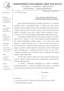 Informacja Warmińsko-Mazurskiej Izby Rolniczej (grafika)