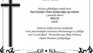 Kondolencje Anna Kuskowska (grafika)