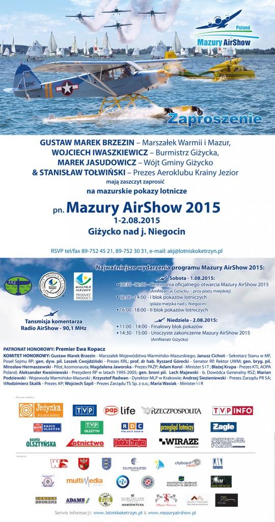 Mazury AirShow 2015 (plakat)