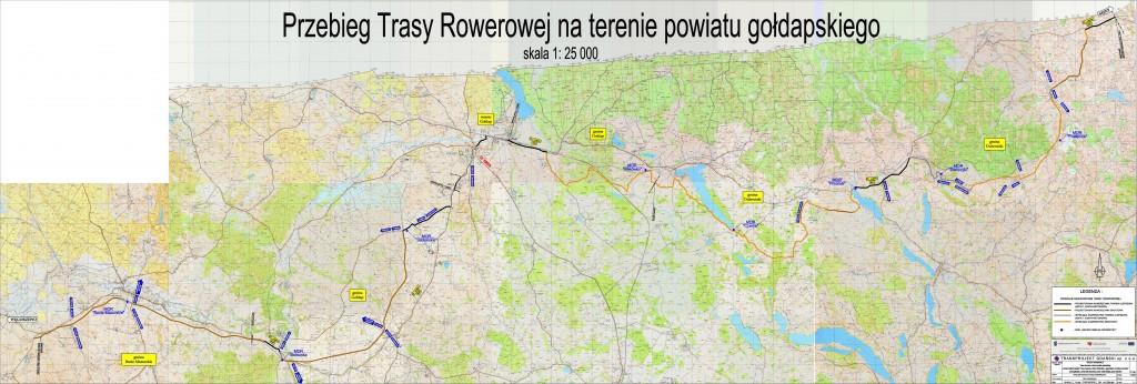 Mapa Green Velo - powiat gołdapski
