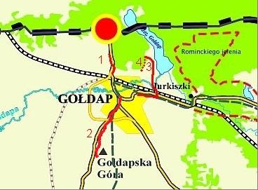 Szlaki utwardzone Gmina  Gołdap