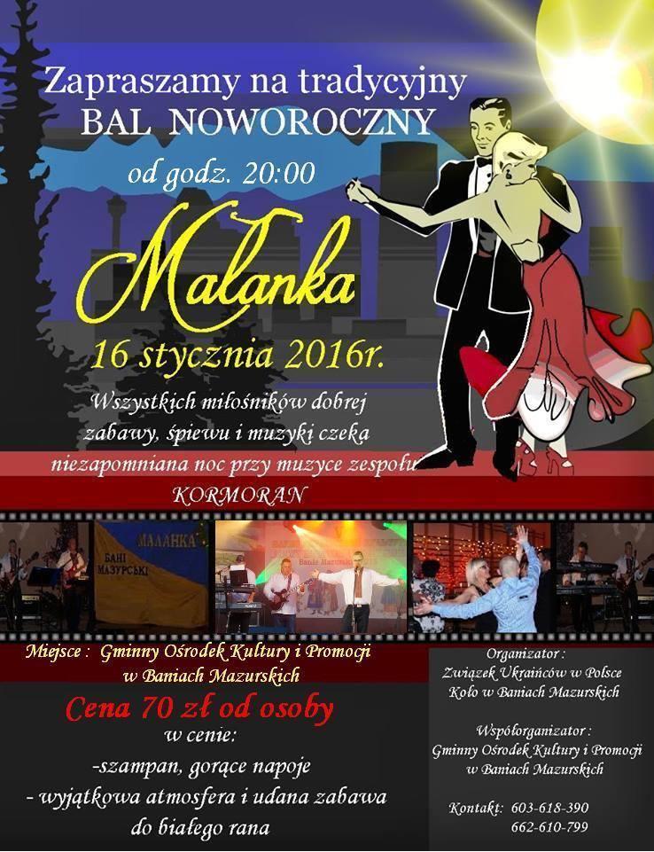 Małanka 2016 - plakat