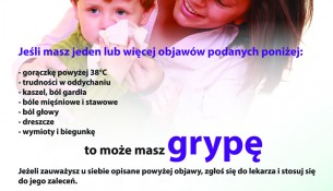 Plakat sanepid grypa