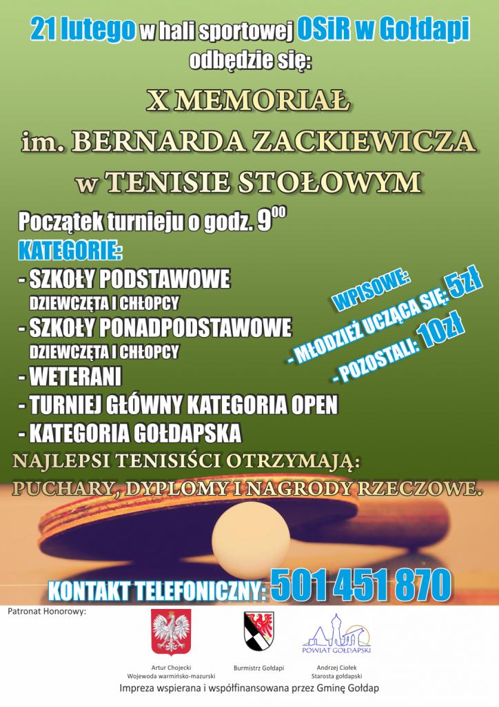 X MEMORIAŁ ZACKIEWICZA (plakat)