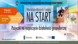 Pożyczki na rozpoczęcie działalności gospodarczej – Warmińsko Mazurski Fundusz NA START -plakat