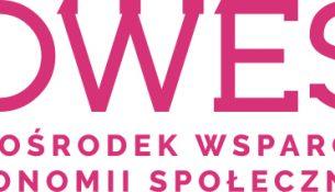 Logo OWES różowe litery