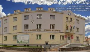 Na zdjęciu znajduje się budynek Starostwa Powiatowego w Gołdapi