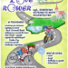 Plakat, przedstawiający rysunek z droga rowerową i rowerzystami i tekstem: czyli... ROWEROWA WYPRAWA PO MAPIE WOJEWÓDZTWA W PROGRAMIE: - rowerowa gra terenowa występy na scenie (m.in. Ostrowski Band) - elektryczne rowerki dla dzieci - food-trucki + ognisko - wyścigi dla najmłodszych Strider Cup - rowerowa parada - konkursy z nagrodami WEŹ ZE SOBĄ: - rower - kocyk kiełbaskę na ognisko - dobry humor OLSZTYN, PARK CENTRALNY 19 września 2021 r. godz. 13:30 - 18:00